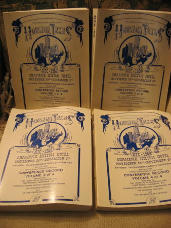 Conference Record 4 volumes, 1980 NTC 80 Global