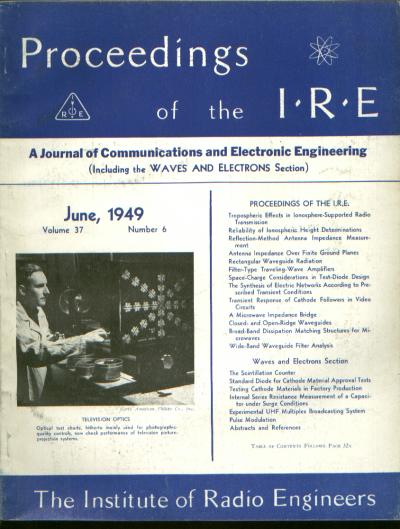 Proceedings IRE volume 37 number 6, June 1949