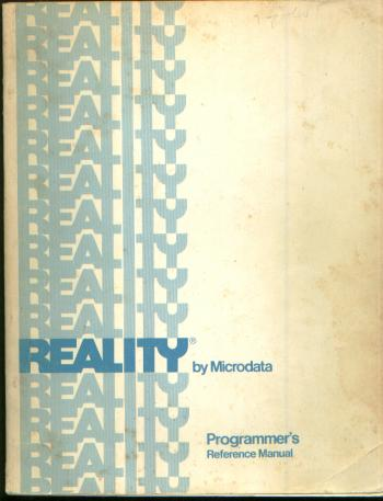 Reality by Microdata, Programmer's Reference Man
