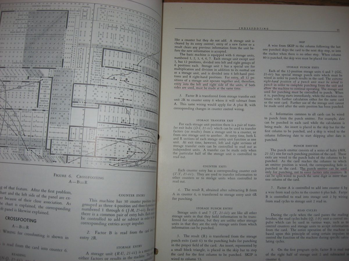 Ibm Electric Punched Card Accounting Machines Principles Of Electrical Control Wiring Book Operation Calculating Punch Type 602