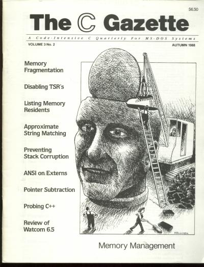 The C Gazette, volume 3 no. 2, Autumn 1988; a code-intensive C Quarterly for MS-DOS Systems. Andrew Binstock, John Rex, The C. Gazette.