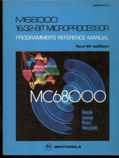 M68000 16- /32-Bit Microprocessor Programmer's Reference Manual, fourth edition; MC68000. Motorola.