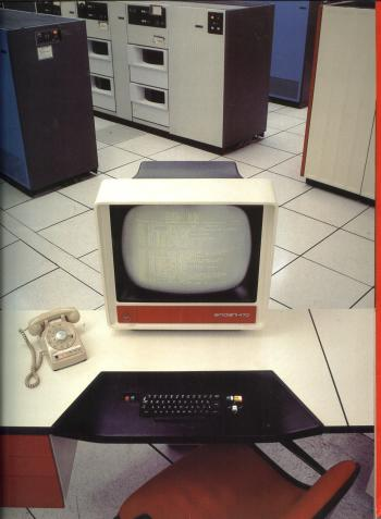 Amdahl 470 Series Computers, multipage full color product sales brochure 1978. Amdahl Corporation.