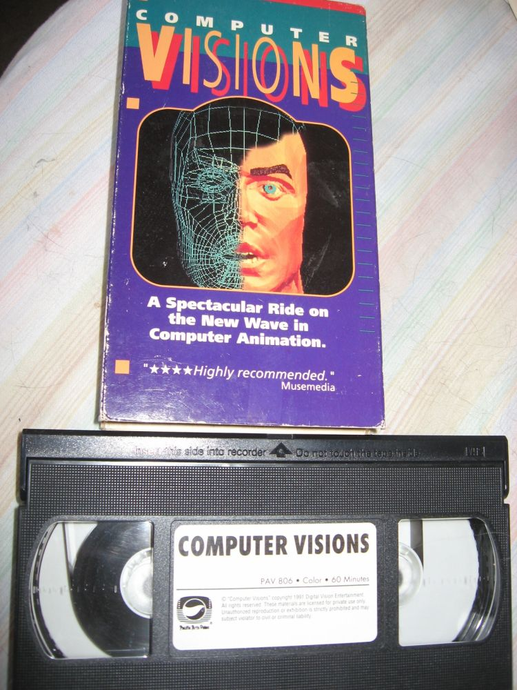 COMPUTER VISIONS vhs video tape; PAV 806; Color, 60 minutes, 1991 computer animation. Pacific Arts Video PAV.