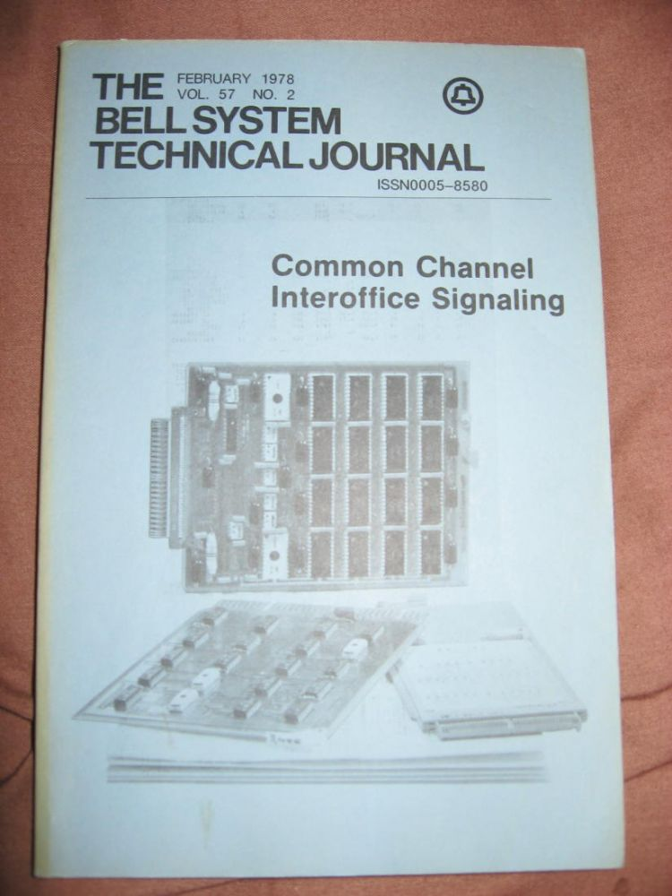 The Bell System Technical Journal vol. 57 no. 2, February 1978, Common Channel Interoffice Signaling. BSTJ AT&T.