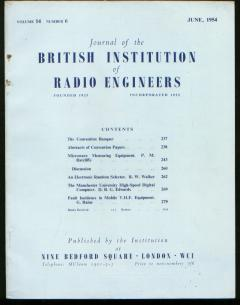The Manchester University High-Speed Digital Computer, in, The Journal of the British Institution of Radio Engineers Vol 14 no 6 June 1954. Manchester University, Journal of the British Institution of Radio Engineers, IRE, British Computing, D. B. G. Edwards.
