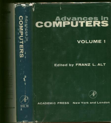 Advances in Computers, Volume 1, volume one