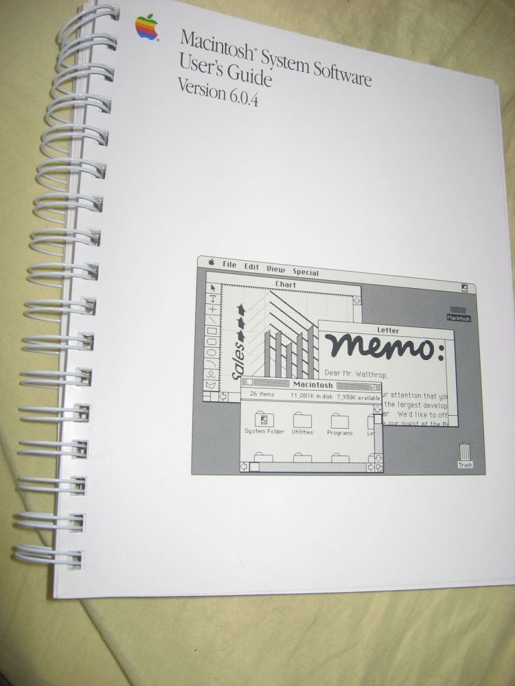 Macintosh system Software User's Guide version 6.0.4, 1989. Macintosh.