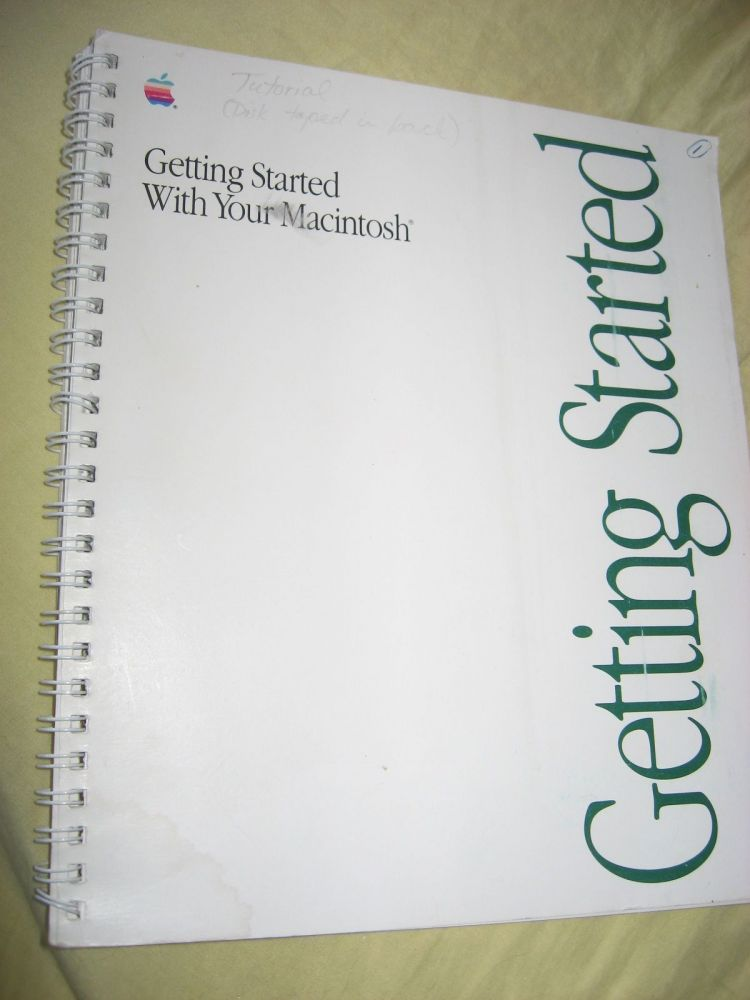 Getting Started with Your Macintosh, manual 1990 (no disk). Apple Computer Macintosh.