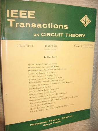 IEEE Transactions on Circuit Theory volume CT-10 Number 2 - June, 1963. IEEE Transactions on Circuit Theory / IRE.