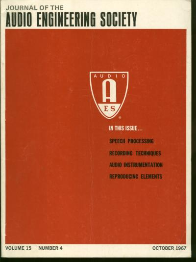 An Audio Noise Reduction System (Dolby, Ray M) in, Journal of the Audio Engineering Society, volumje 15, no. 4, October 1967. Ray M. Dolby, Journal of the Audio Engineering Society.
