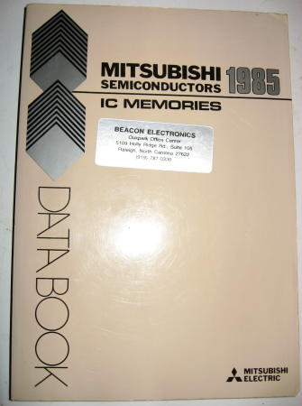 Mitsubishi Semiconductors IC Memories Data Book 1985