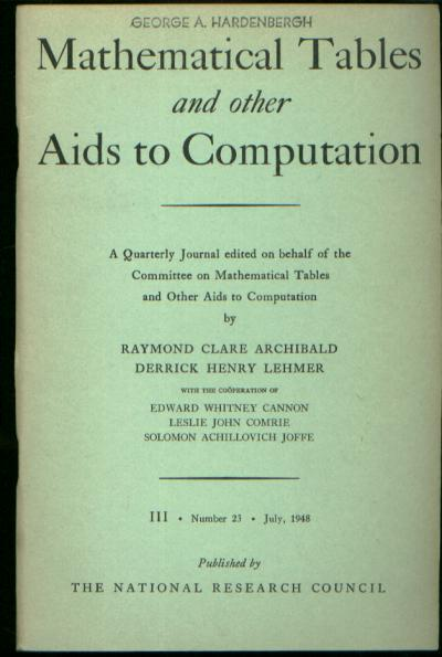 The IBM Pluggable Sequence Relay Calculator, in Mathematical Tables and Other Aids to Computation, Volume III, Number 23, July, 1948, pp. 149-161 inclusive. W. J Eckert, MTAC Mathematical Tables, Other Aids to Computation July 1948.