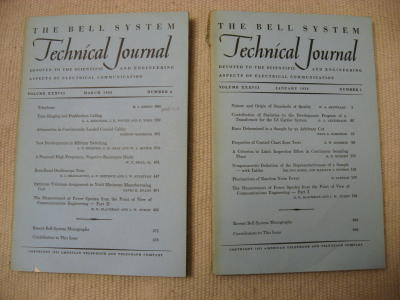 Measurement of Power Spectra from the Point of View of Communication Engineering, parts I and II. R. ZB Blackman, J W. Tukey, special issue Mathematical statistics Bell System Technical Journal BSTJ, quality control, Shewhart.