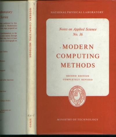 Modern Computing Methods 1961. National Physical Laboratory.
