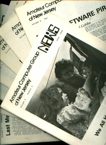 Amateur Computer Group of New Jersey News, 8 individual issues, 1980 newsletters