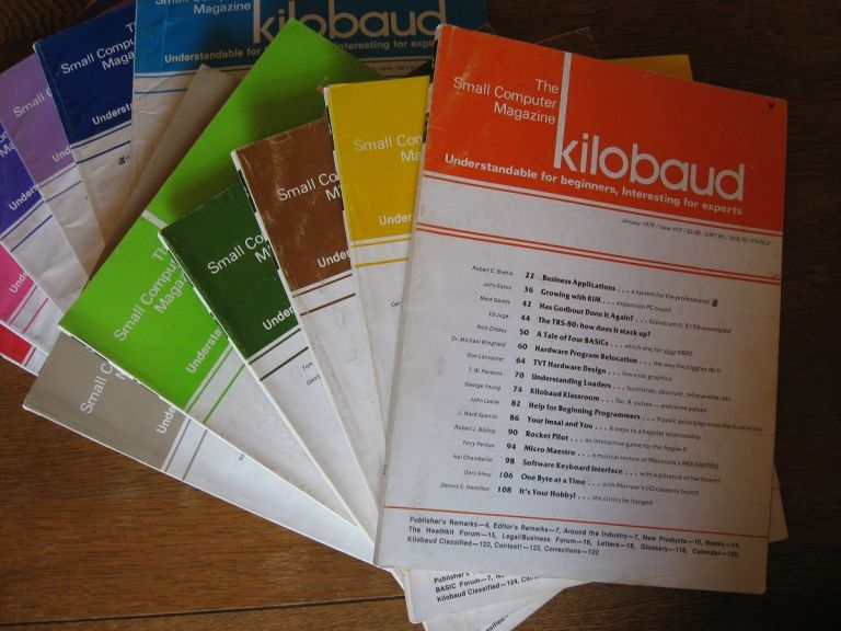 Kilobaud, the Small Computer Magazine, full year 12 individual issues, 1978. publisher Wayne Green.