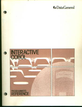 Interactive COBOL Programmer's Reference. Data General Corporation.