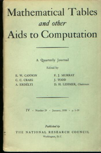 Magnetic Drum Storage for Digital Information Processing Systems, in, Mathematical Tables and other Aids to Computation vol 4 no 29, January 1950 / MTAC 1950. Arnold A. / MTAC vol 4 no 29 January 1950 Cohen, Mathematical Tables, other Aids to Computation vol 4 no 29.