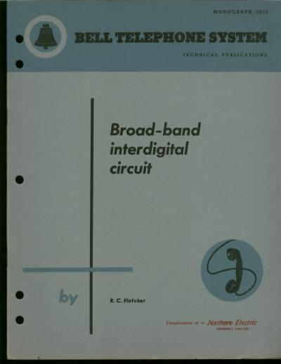 Broad-band Interdigital Circuit -- A Broad-Band Interdigital Circuit for Use in Traveling-Wave-Type Amplifiers