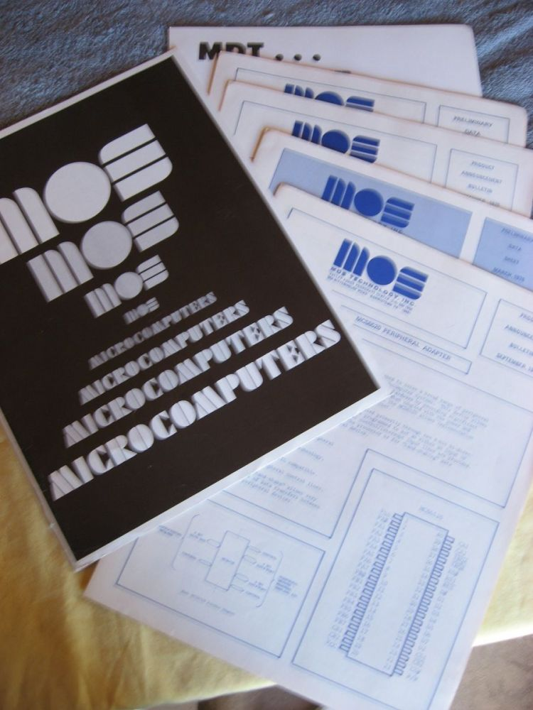 1976 MOS Technology computer data sheets in advertising folder, 1976