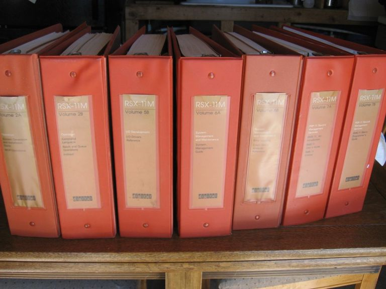 RSX-11M manuals, 7 volumes Orange Binders priced individually or as a Lot ($25.00 per volume or $150.00 the Lot) plus shipping. Digital Software, DEC.