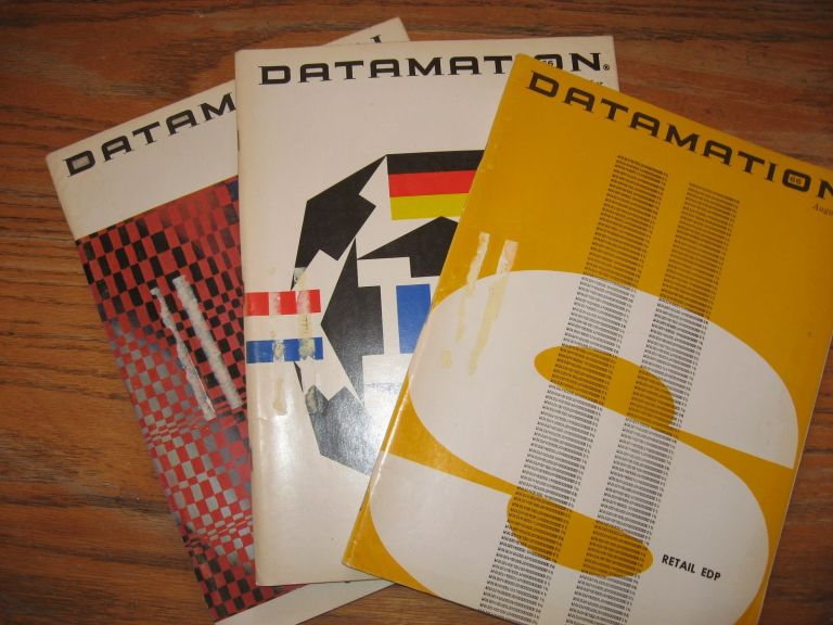 Datamation magazine 3 issues 1966, August, September, November, incl. article on Zuse computer. var Datamation.