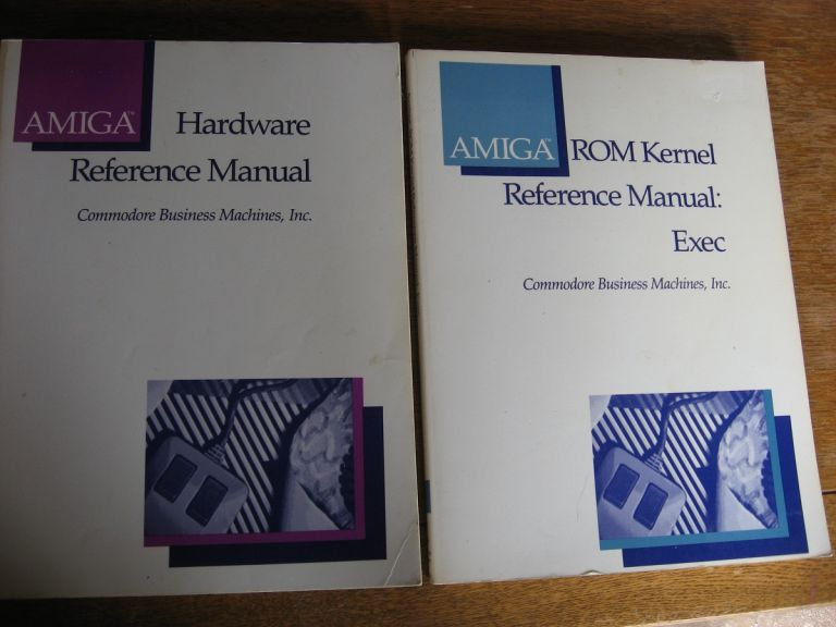Amiga Hardware Reference Manual; AND ROM Kernel Reference Manual - Exec; 2 manuals. inc Commodore Business Machines.