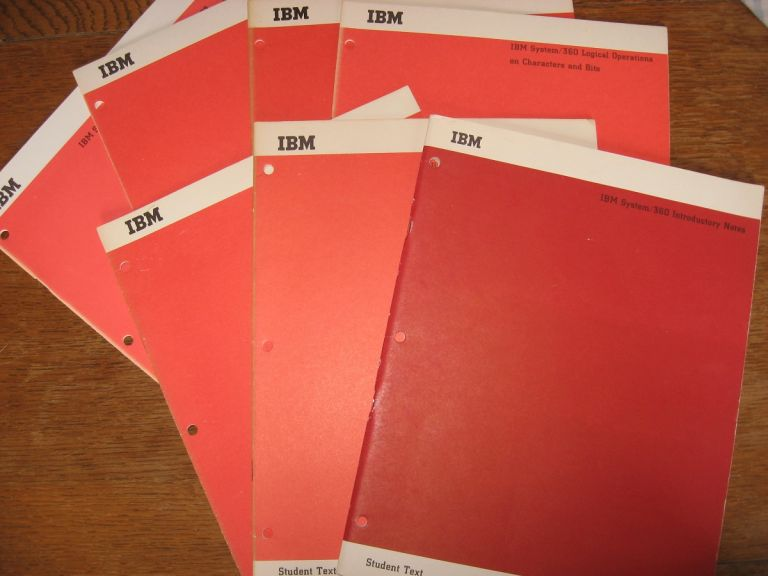 7 Manuals, IBM Student Text -- System/360 1965, see list below. IBM.