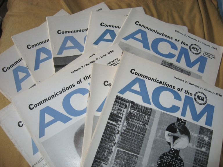 Communications of the ACM, 1960, various individual issues, 9 issues monthly see list; volume 3 1960. ACM.
