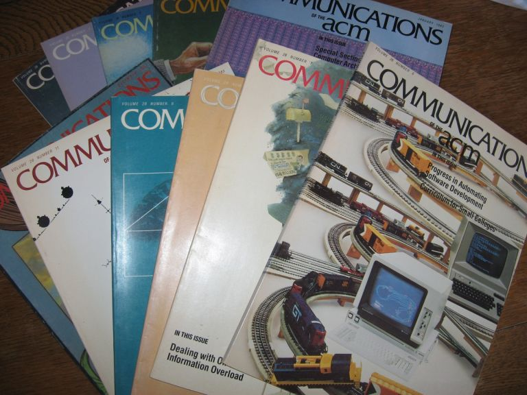 Communications of the ACM 1985, 11 individual issues (missing October) volume 28. ACM.