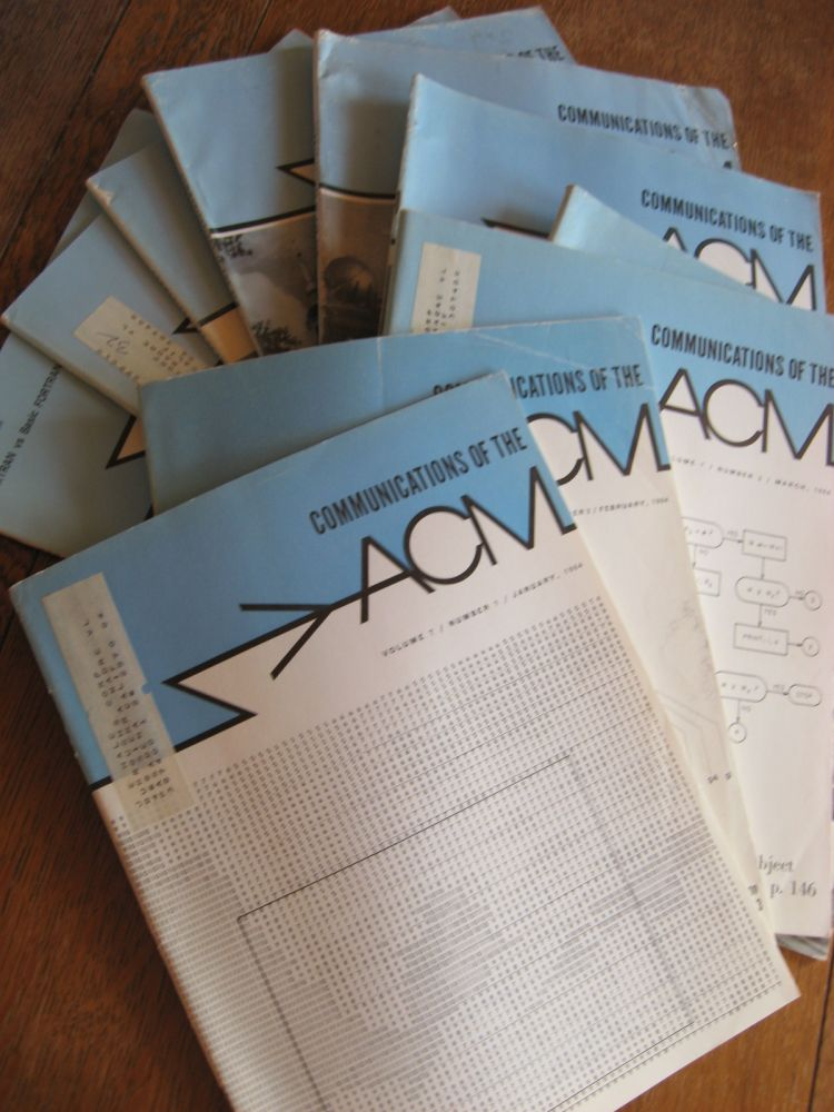 Communications of the ACM, 1964, 10 individual issues; volume 7 numbers 1-10 inclusive. ACM.