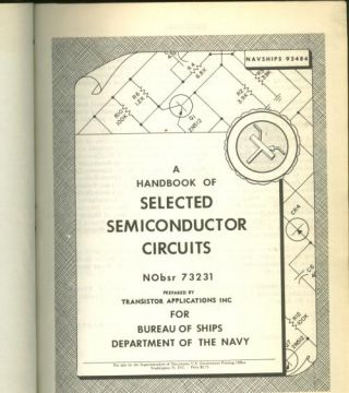 A Handbook of Selected Semiconductor Circuits, 1960, Navships 93484. USGPO
