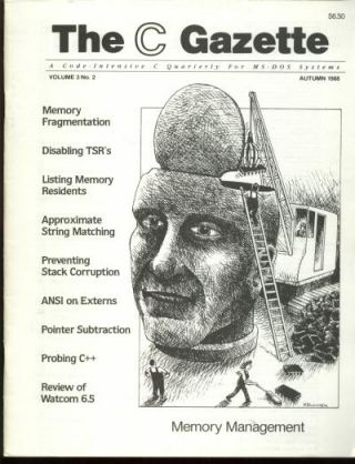 The C Gazette, volume 3 no. 2, Autumn 1988; a code-intensive C Quarterly for MS-DOS Systems....
