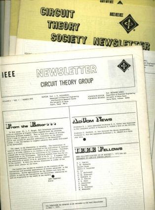 10 individual issues of Circuit Theory Group Newsletter, 1972, 1973; Circuit Theory Society...