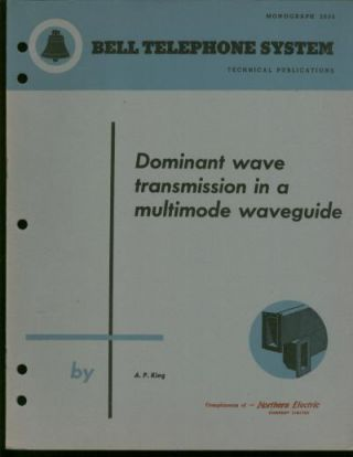 Dominant Wave transmission in a Multimode Waveguide; Bell Telephone System monograph 2035, technical publications
