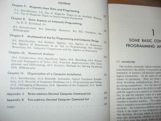 Programming and Coding for Automatic Digital Computers, 1961