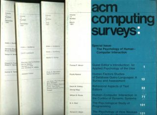 ACM Computing Surveys -- volume 13, numbers 1 through 4 inclusive, 1981 (four individual issues)....