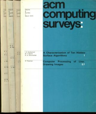 ACM Computing Surveys volume 6 nos. 1, 2, 3, 4; complete year 1974 individual issues (4). ACM