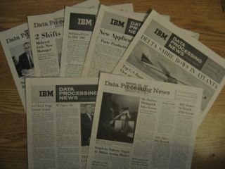 IBM Data Processing News, 7 individual issues, 1961 various months. IBM