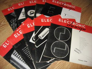 Electronic Design magazine, 1954 10 issues various months. Electronic Design magazine