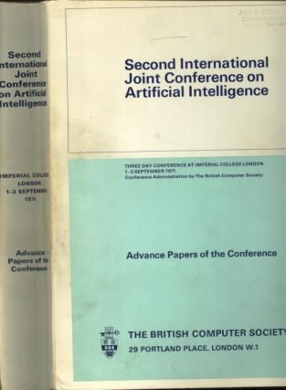 Second International Joint Conference on Artificial Intelligence, 1971; advance papers of the Conference. The British Computer Society.