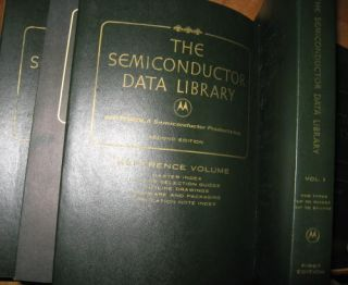 6 volumes of The Semiconductor Data Library, includes 1972 Reference Libary (first edition);...
