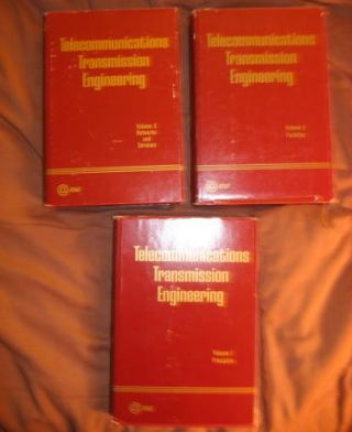 Telecommunications Transmission Engineering, 3 volumes complete. Bell Telephone Laboratories...