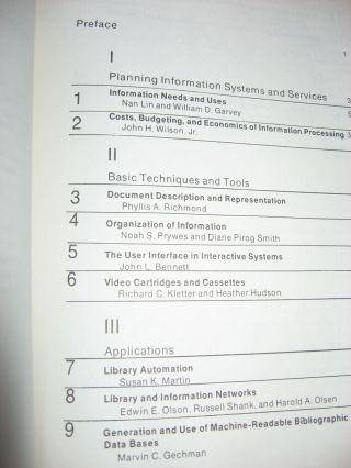 Annual Review of Information Science and Technology volume 7 1972