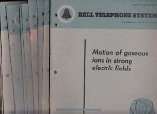 Lot of 23 individual Bell Telephone System Monographs, see list. Var., Bell Telephone System...