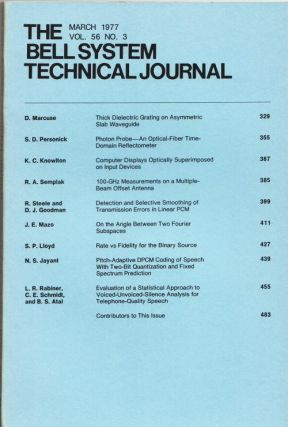 The Bell System Technical Journal vol. 56 no. 3, March 1977. AT&T