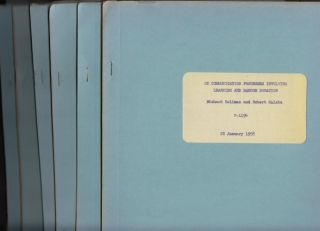 Lot of 6 mimeographed reports, The Rand Corporation, 1956, 1957, 1958, 1963; all with Kalaba's name with co-authors (see list). R. E. Kalaba, Richard Bellman.