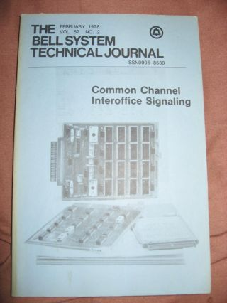 The Bell System Technical Journal vol. 57 no. 2, February 1978, Common Channel Interoffice...