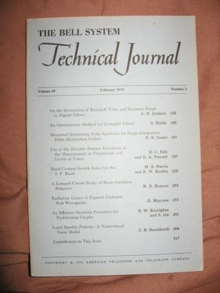 The Bell System Technical Journal volume 49 number 2, February 1970. BSTJ AT&T